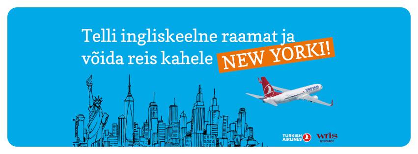 Telli maikuus Rahva Raamatu e-poest ingliskeelne raamat ja võida reis kahele New Yorki!