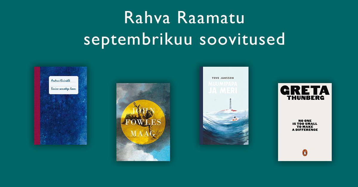 Rahva Raamat septembrikuu lugemissoovitused